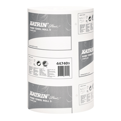 Vetopyyhe Katrin Plus Hand Towel Roll S2 hylsytön valk./12