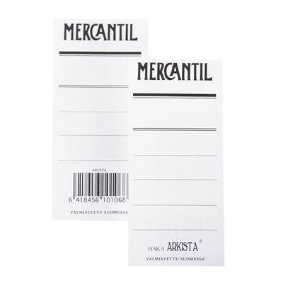 Mapin etiketti Mercantil musta /100 kpl - kaksipuolinen etiketti 8 cm leveään mustaan mappiin (EAN)