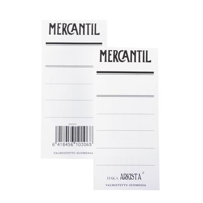 Mapin etiketti Mercantil sin /100 kpl - kaksipuolinen etiketti 8 cm leveään siniseen mappiin (EAN)