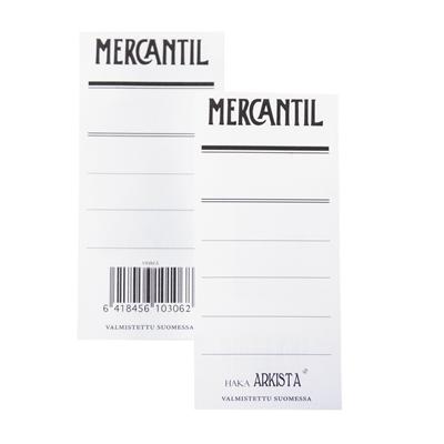 Mapin etiketti Mercantil vihr /100 kpl - kaksipuolinen etiketti 8 cm leveään vihreään mappiin (EAN)