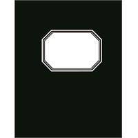 Konttorikirja A5/192 9mm viivat sidottu musta kovakantinen