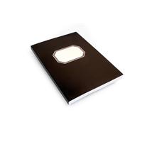 Konttorikirja A4/288 nidottu musta pehmeäkantinen
