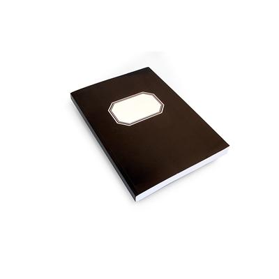 Konttorikirja B5/288 nidottu musta pehmeäkantinen