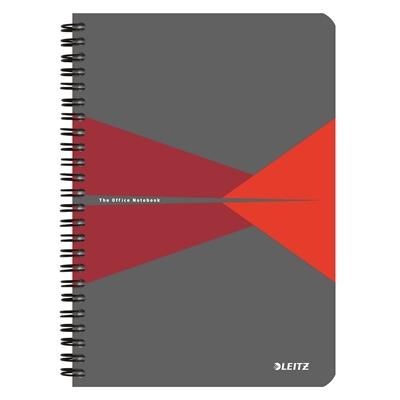 Muistikirja Leitz Office A5/90 viivat punainen kartonki
