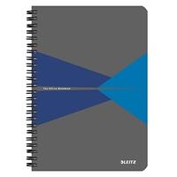 Muistikirja Leitz Office A5/90 viivat sininen kartonki