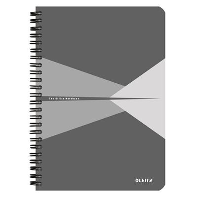 Muistikirja Leitz Office A5/90 viivat harmaa kartonki