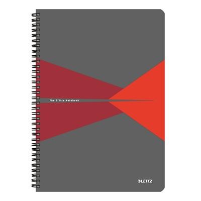 Muistikirja Leitz Office A4/90 viivat punainen kartonki