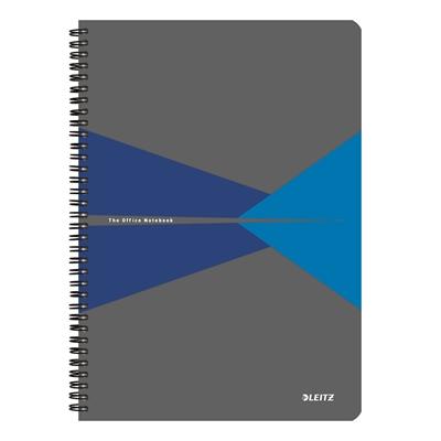 Muistikirja Leitz Office A4/90 viivat sininen kartonki
