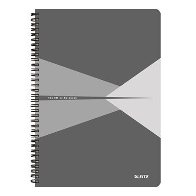 Muistikirja Leitz Office A4/90 viivat harmaa kartonki