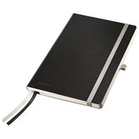 Muistikirja Leitz Style A5/80 kova kansi viivat musta