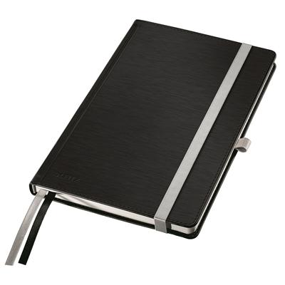 Muistikirja Leitz Style A5/80 pehmeä kansi viivat musta