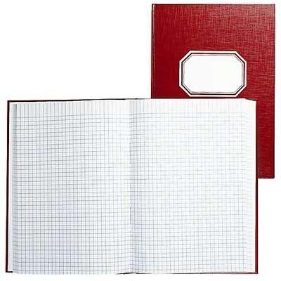 Konttorikirja B5/288 sidottu punainen kovakantinen