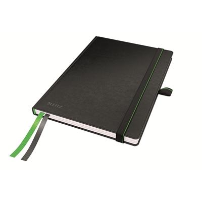 Muistikirja Leitz Complete A5/80 viivat musta