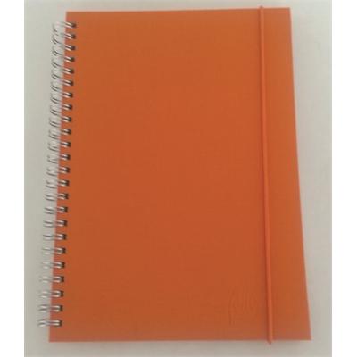 Kangaspäällysteinen muistikirja A5/70 oranssi kierreselkä