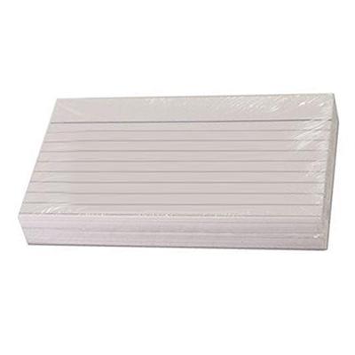 Kortistokortti A6 viivaus valkoinen/100 kpl paketti