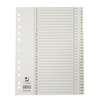 Hakemisto Q-Connect A4 1-31 PP valkoinen