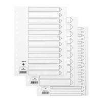 Hakemisto / välilehdet Q-Connect A4 12-osainen blanko kartonki valkoinen