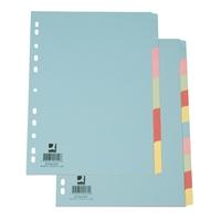 Hakemisto Q-Connect A4 10-os blanko kartonki värillinen