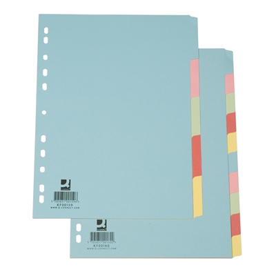 Hakemisto A4/10-osainen blanko värillinen