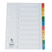 Hakemisto / välilehdet Q-Connect A4 1-10 PP muovi värillinen
