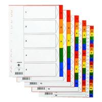 Hakemisto / välilehdet Q-Connect A4 1-6 PP muovi värillinen