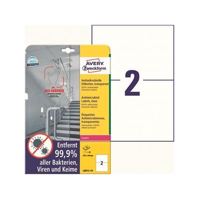 Lasertarra antibakteerinen Avery L8012-10 210x148 Läpinäkyvä