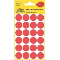 Etiketti Avery 3004 18/96 pyöreä punainen