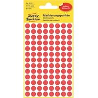 Etiketti Avery 3010 8/416 pyöreä punainen