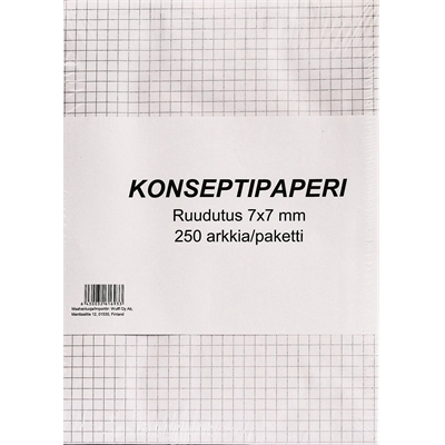 Konseptipaperi A4 7X7 ruudut/250