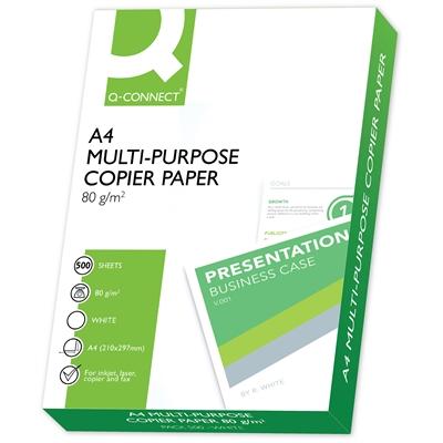 Kopiopaperi Q-Connect A4 80g /500 - Suomessa valmistettu, ympäristöystävällinen, muoviton kääre
