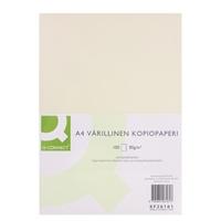 Kopiopaperi Q-Connect A4 80g vaniljankeltainen/100 arkkia