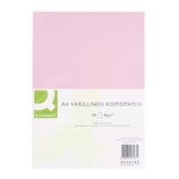Kopiopaperi Q-Connect A4 80g vaaleanpunainen/100 arkkia