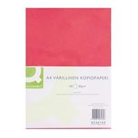 Kopiopaperi O-Connect A4 80g punainen/100 arkkia