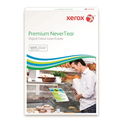 Synteettinen paperi Xerox Premium NeverTear A4 laser 120mic/100 - pesunkestävä repeämätön paperi