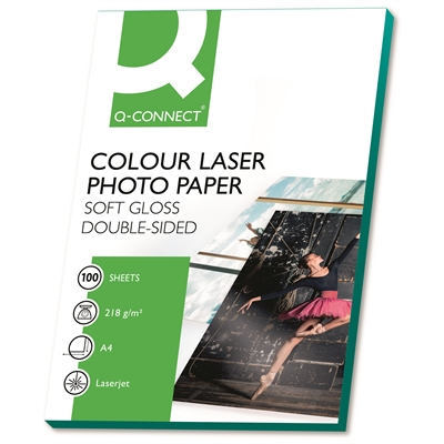 Laserphotopaperi Q-Connect A4 218 g/100