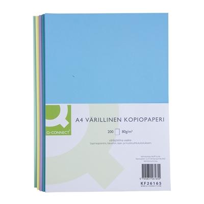 Kopiopaperi Q-Connect A4 80g värilajitelma vaalea/200 arkkia