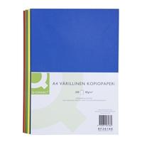 Kopiopaperi Q-Connect A4 80g värilajitelma tumma/200 arkki