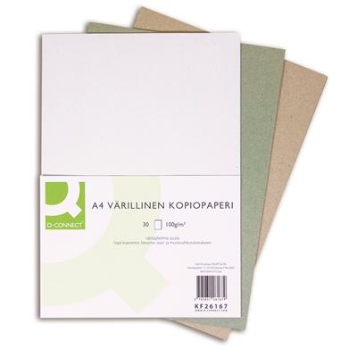 Kopiopaperi Q-Connect A4 100g värilajitelma recycled/30