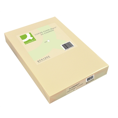 Kopiopaperi Q-Connect A4 80g säämiskä/500