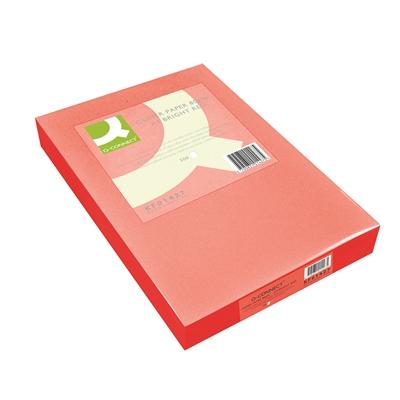 Kopiopaperi Q-Connect A4 80g punainen/500