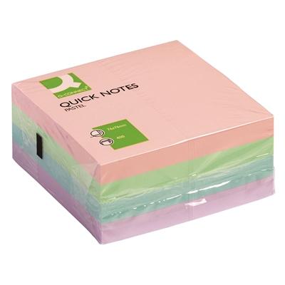 Viestilappukuutio Q-Connect 76X76mm pastelli