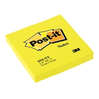 Viestilappu Post-it 654 76X76mm neonkeltainen
