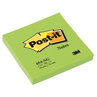 Viestilappu Post-it 654 76X76mm neonvihreä