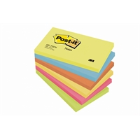 Viestilappu Post-it Energetic 654 76x127mm/6 kpl