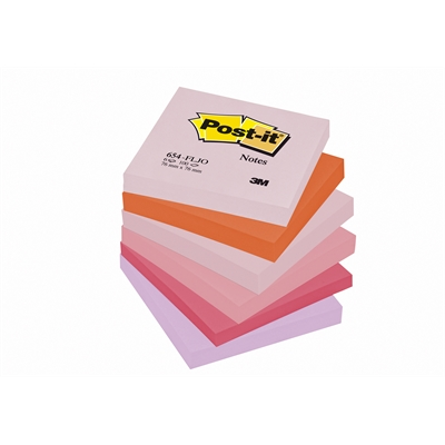 Viestilappu Post-it Joyful 654 76x76mm/12 kpl