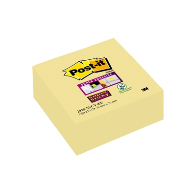 Viestilappukuutio Post-it Super Sticky 76x76mm keltainen