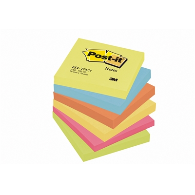 Viestilappu Post-it Energetic 654 76x76mm/6 kpl