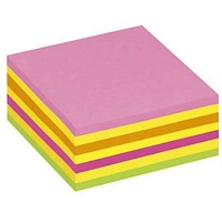 Viestilappukuutio Post-it 2014LP 76X76mm neonpunainen