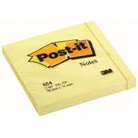 Viestilappu Post-it 654 76X76mm keltainen