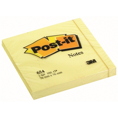 Viestilappu Post-it 76x76 mm 654 keltainen